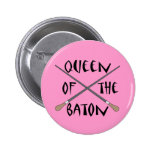 Funny Queen of the Baton Conductor Gift 6 Cm Round Badge