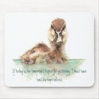 Funny Quote about Life Sucks Cute Angry Duck, Bird Mouse Pad