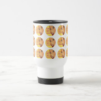 Funny Retro Housewife SCREAM Travel Mug