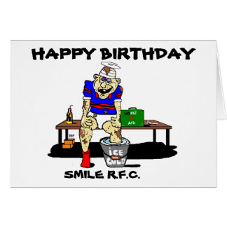 FUNNY RUGBY BIRTHDAY GREETING GREETING CARD