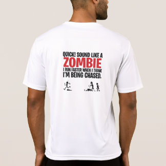 Funny Running Shirt Zombie Sounds