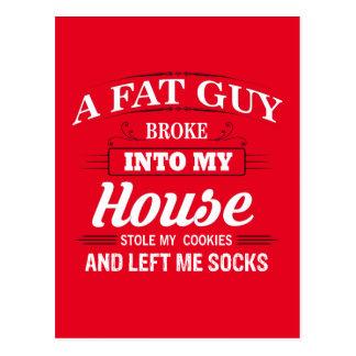 Funny Santa Claus Christmas Saying Postcard