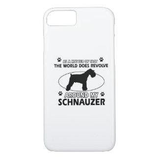 funny SCHNAUZER designs iPhone 7 Case