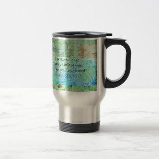 Funny Shakespeare insult quotation Elizabethan art Stainless Steel Travel Mug