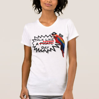 funny talk like a pirate day parrot tshirt