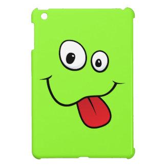 Funny teasing green cartoon smiley face funny case for the iPad mini