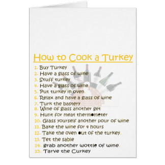 funny Thanksgiving personalize Greeting Card