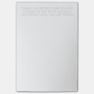 funny to-do list post-it® notes