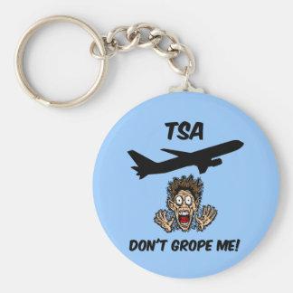 Funny TSA Basic Round Button Key Ring