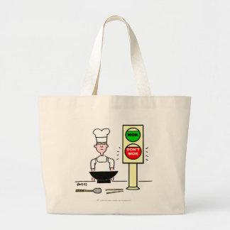 Funny Wok Cartoon Grocery Tote Jumbo Tote Bag