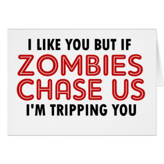 Funny Zombies Design Greeting Card