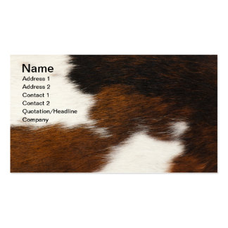 Furry background pack of standard business cards