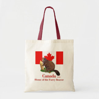 Furry Beaver Budget Tote Bag