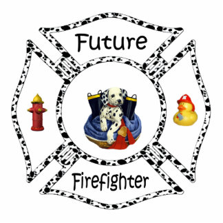 Future Firefighter Dalmation Photo Sculpture Decoration