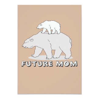 Future mom To make Share 13 Cm X 18 Cm Invitation Card