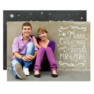 Future Mr. and Mrs. | Christmas Photo Card 13 Cm X 18 Cm Invitation Card