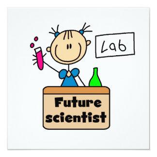 Future Scientist 13 Cm X 13 Cm Square Invitation Card