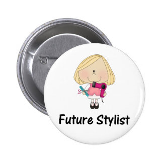 future stylist 6 cm round badge