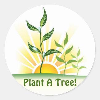 Future Trees Round Sticker