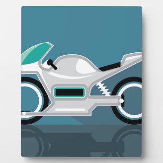 Futuristic motorcycle photo plaque