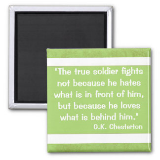 G.K Chesterton Quote Square Magnet
