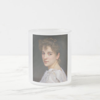 Gabrielle Cot by William Adolphe Bouguereau 1890 Frosted Glass Mug