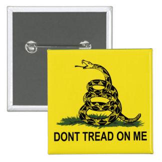 Gadsden Flag Dont Tread On Me 15 Cm Square Badge