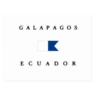 Galapagos Ecuador Alpha Dive Flag Postcard