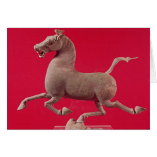 Galloping horse with one Hoof Resting on a Greeting Card