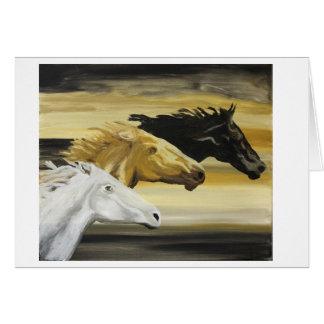 Galloping Horses Greeting Card