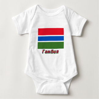 Gambia Flag Flag with name in Russian T-shirts