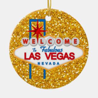 Gambling - Vegas Round Ceramic Decoration
