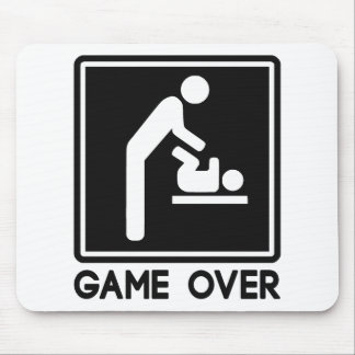 Game Over New Baby for Parent Dad Mouse Pad