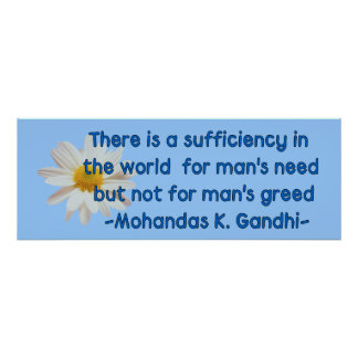 Gandhi Earth Quote Poster