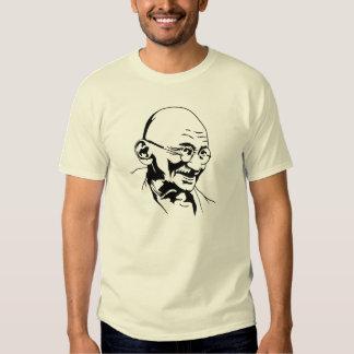 gandhi india retro portrait stencil  shirts
