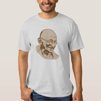 gandhi india retro portrait stencil  tshirt