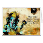 Ganesh Ganesha Hindu India Asian Elephant Deity Greeting Card