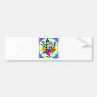 Ganesh in Rainbow colorful design Bumper Sticker
