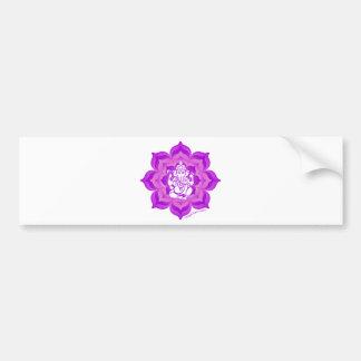 Ganesh purple design bumper sticker