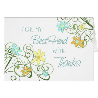 Garden Best Friend Thank You Maid of Honor Card