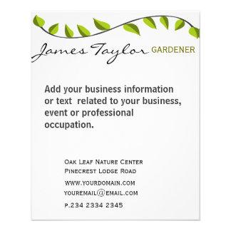 Garden Leaf Gardening Green 11.5 Cm X 14 Cm Flyer