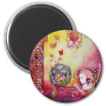 GARDEN OF THE LOST SHADOWS -FAERY AND BUTTERFLIES 6 CM ROUND MAGNET