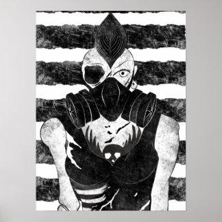 Gas Mask Punk Girl Poster