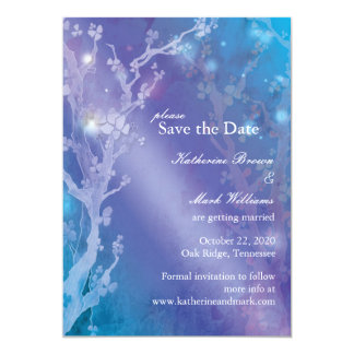 Gate of Dawn in Blue Wedding Save the Date 13 Cm X 18 Cm Invitation Card