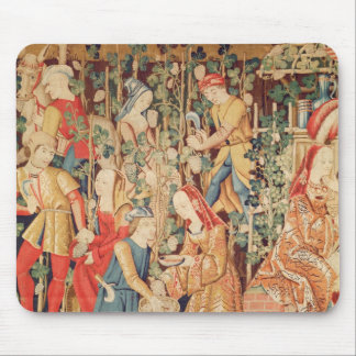 Gathering Grapes, detail of The Grape Harvest Mouse Pad
