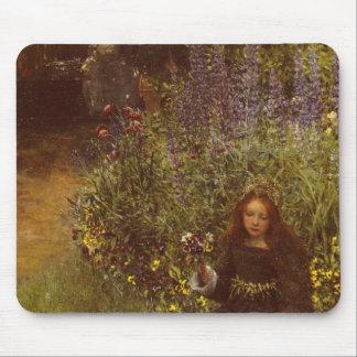 Gathering Pansies by Laura Teresa Alma-Tadema Mouse Pad