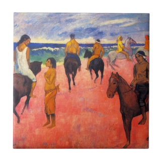 Gauguin Riders on the Beach Tile