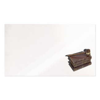 Gavel volumes law books pack of standard business cards