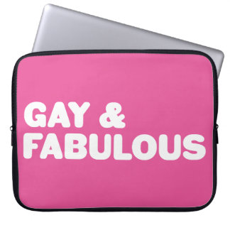 Gay & Fabulous Pink Statement Customizable Color Computer Sleeve