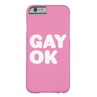 GAY OK Typography Customizable White And Pink Barely There iPhone 6 Case